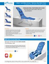 Ultima ? and Ultima Access ? Stainless Steel Bath Chairs