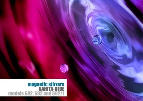 magnetic stirrers NAHITA-BLUE models 682, 692 and 692/1