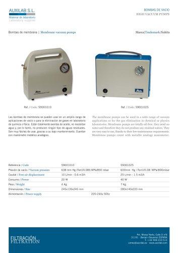 Membrane pumps, 10 l/min