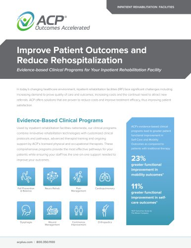 Improve Patient Outcomes and Reduce Rehospitalization