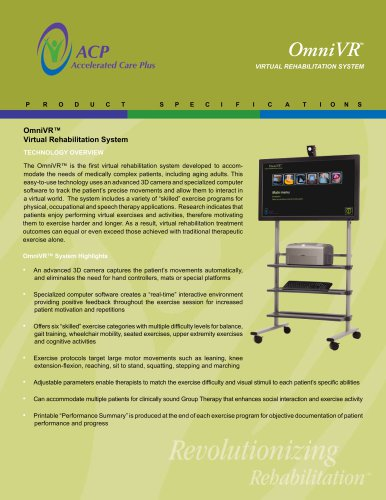 OmniVR Virtual Rehabilitation System