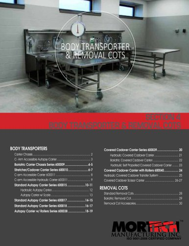 BODY TRANSPORTER & REMOVAL COTS