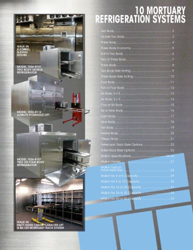 Mortuary Refrigeration Systems - Mortech Manufacturing - PDF