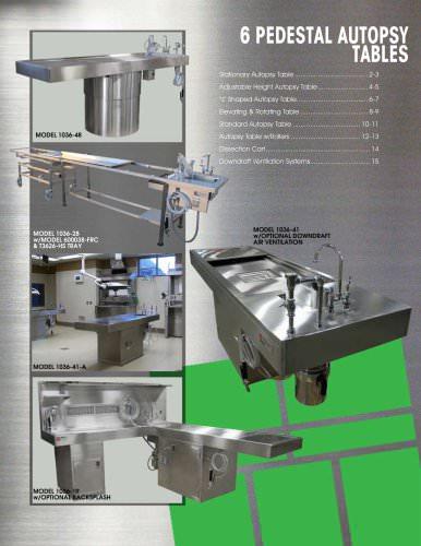 Pedestal Autopsy Tables