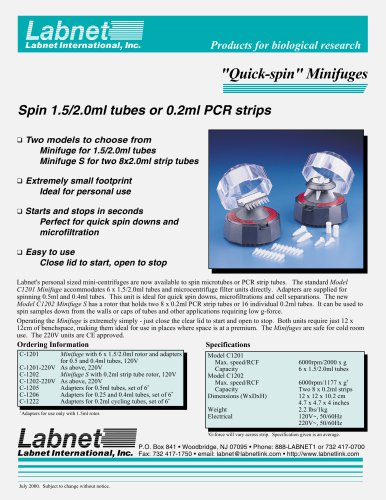 Quick-spin Minifuges