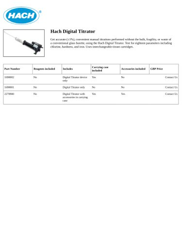 Hach Digital Titrator