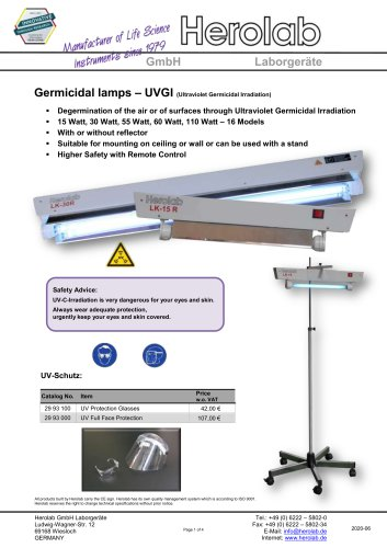 Germicidal Lamp