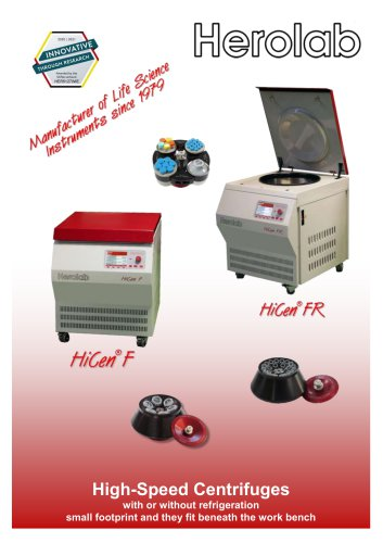 HiCen F / FR - Underbench centrifuges