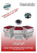 HiCen GR - Large Volume Floor Standing Centrifuge - 1