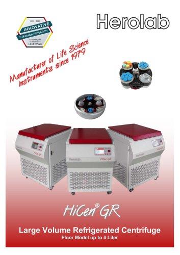 HiCen GR - Large Volume Floor Standing Centrifuge