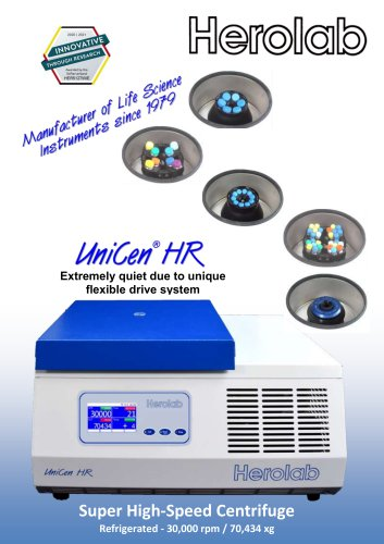 NEW: Super High-Speed Centrifuge UniCen HR