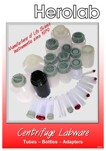 Tubes and Bottles for Centrifugation