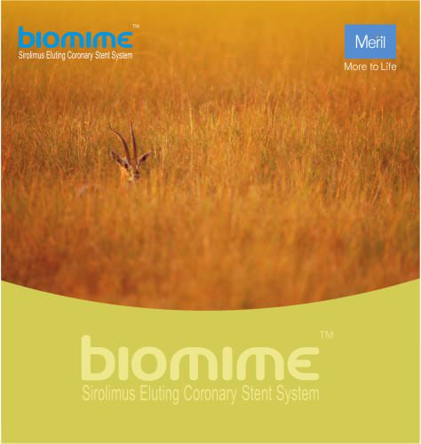 BioMime - Sirolimus Eluting Coronary Stent system