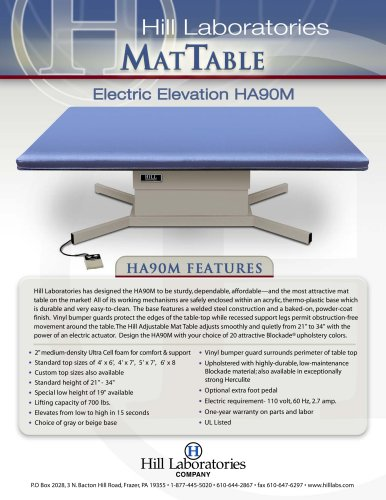 Hill HA90M Mat & Bobath Table