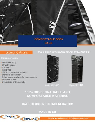 Compostable line - Body bags