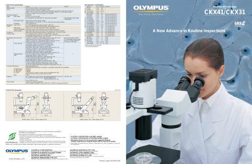 CKX31 & CKX41 family brochure