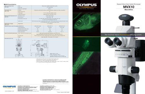 MVX10 product brochure