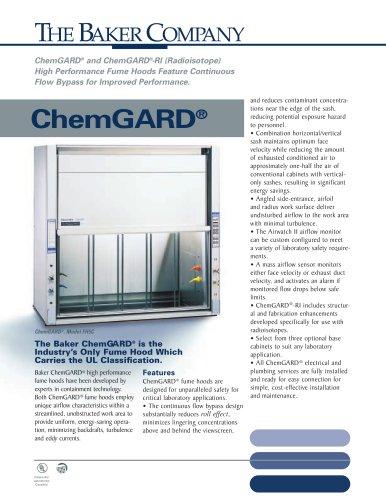 ChemGARD® Radioisotope Fume Hood
