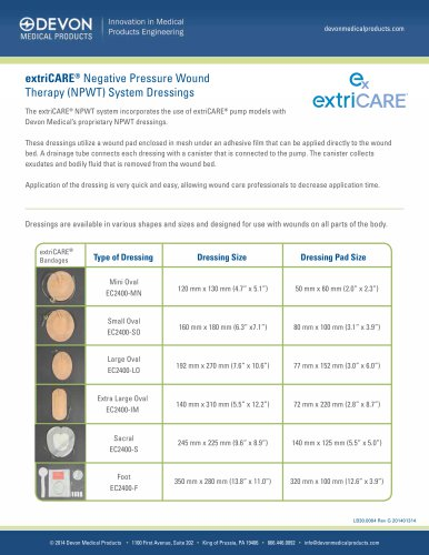 extriCARE® Negative Pressure Wound