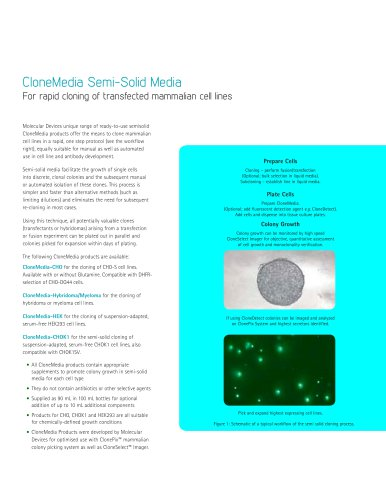 CloneMedia Semi-Solid Media -