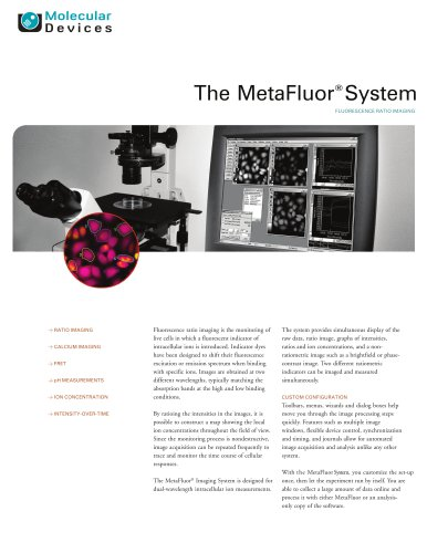 MetaFluor Software Brochure