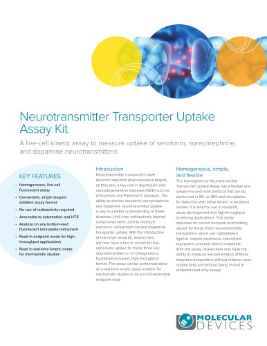 Neurotransmitter Transporter Uptake Assay Kit