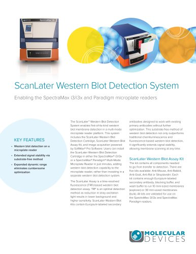 ScanLater Western Blot Detection System