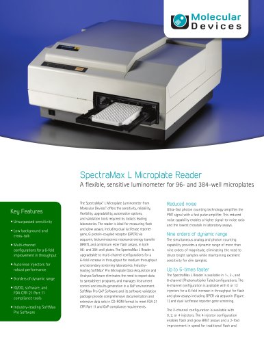 SpectraMax L Luminescence Microplate Reader