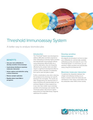 Threshold Immunoassay System