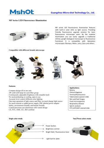 MF-LED fluorescence microscope illuminator