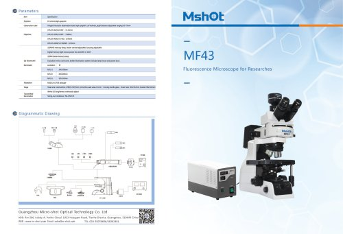 Mshot MF43 research fluorescence microscope catalogue