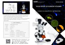 Stereo fluorescence microscope MZX81 MZX80 and fluorescent attachment for stereo microscope MZX-BG-LED