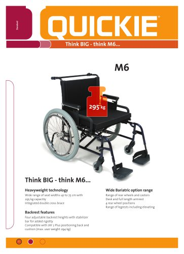 M6 Heavy Duty Wheelchair
