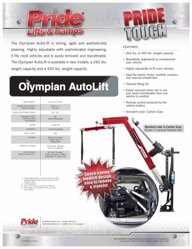 Olympian AutoLift