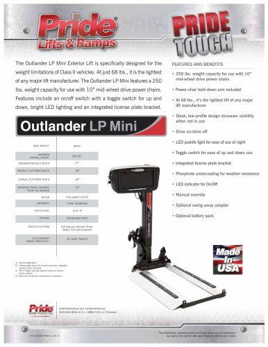 Outlander LP Mini