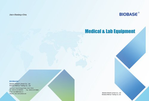 BIOBASE Lab Science Common Equipment and Instrument Catalogues