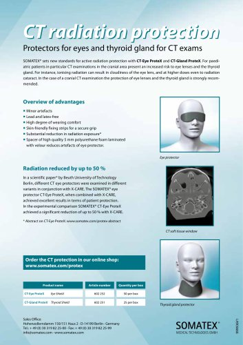 Radiation Protection for eye lense