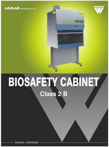 Biosafety Cabinet Class 2 B