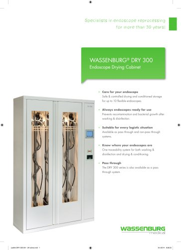WASSENBURG® DRY 300 Endoscope Drying Cabinet