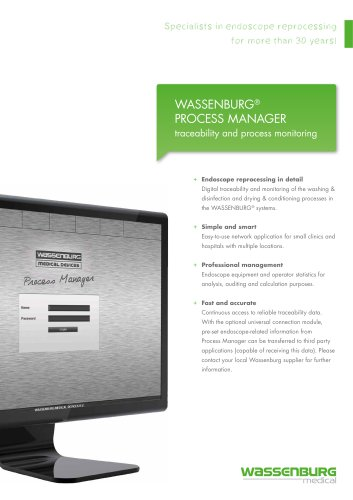 WASSENBURG® PROCESS MANAGER