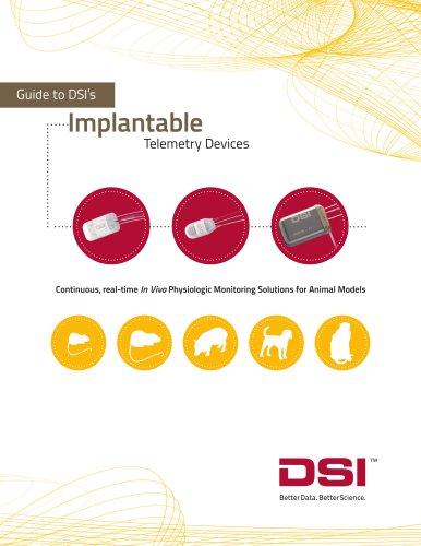 DSI Implantable Telemetry brochure - US & Europe