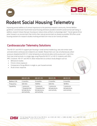 Rodent Social Housing Solutions