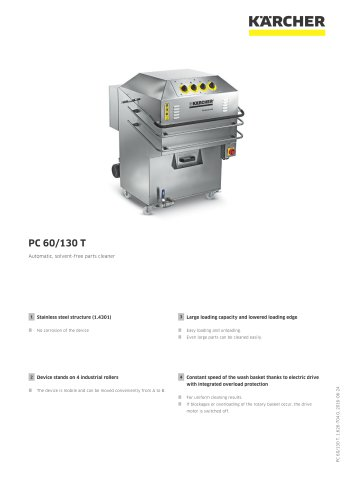 PARTS CLEANER PC 60/130 T