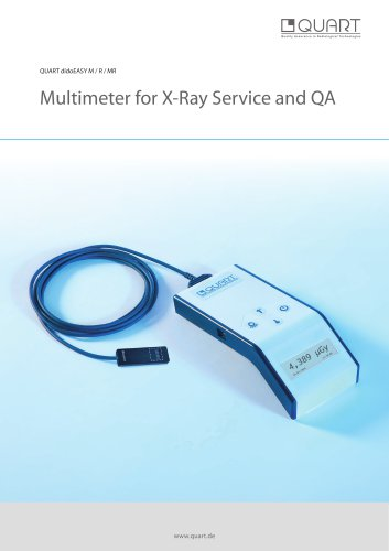 Multimeter for X-Ray Service and QA