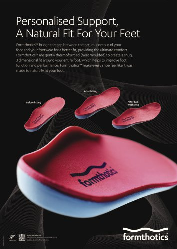 Personalised Support,  A Natural Fit For Your Feet