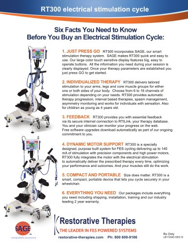 RT300 electrical stimulation cycle