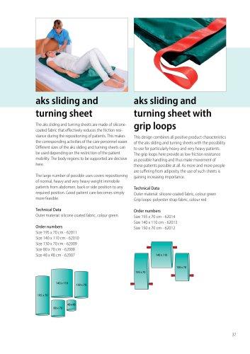 aks sliding and turning sheet