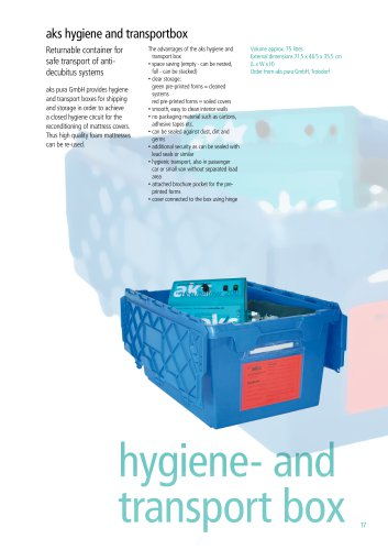 hygiene- und transportbox