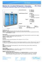 Medical pharmaceutical refrigerator with 2 temperature ranges  2300 Litres