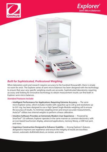 Explorer Semi-Micro Balances